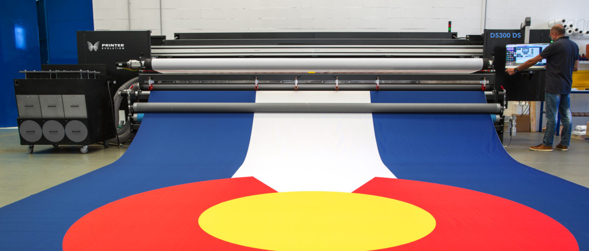 printing flag on printerevolution d5300 inline dye sub printer