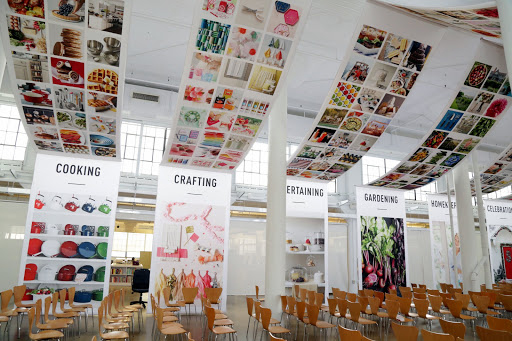 Custom fabric banners at Martha Stewart event.