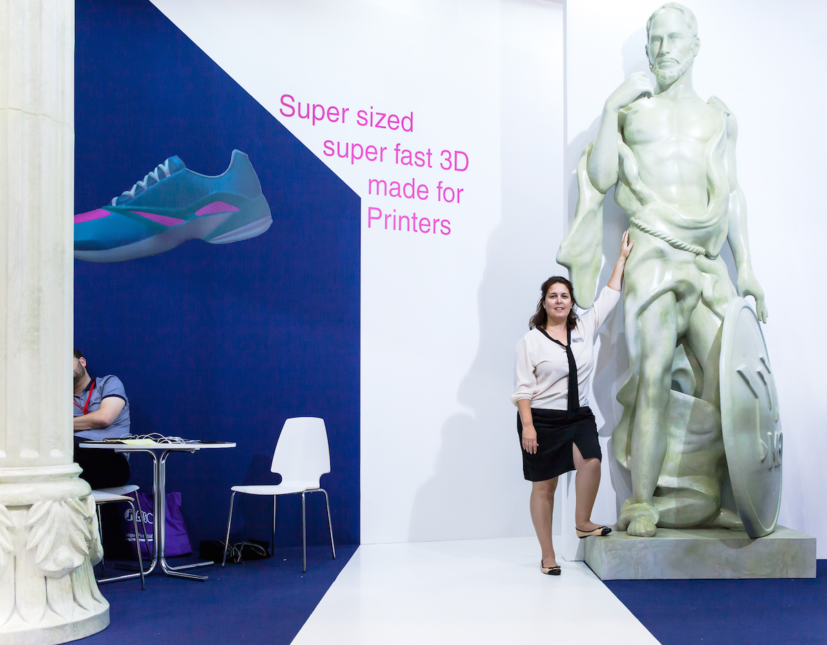 Giant 3D printed Greek statue