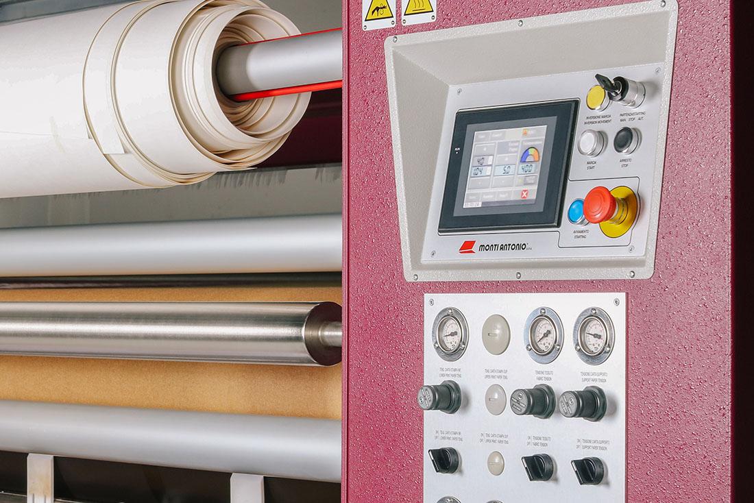 Digital controls on dye sub calender
