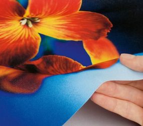 Person's hand touch digital textile print