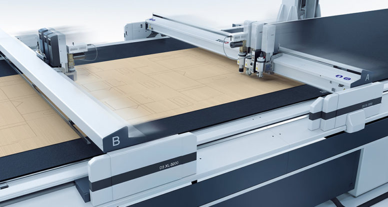Die cut packaging on Zund D3 flatbed cutter