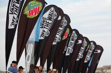 Feather flags printed for outdoor event