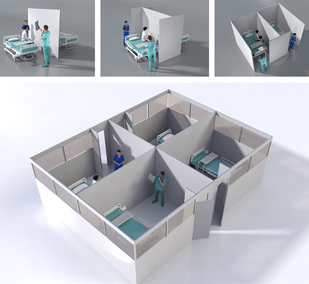Temporary medical screening rooms for COVID-19 treatment